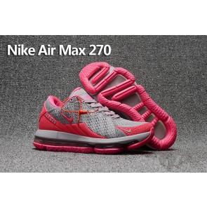 Boutique Femme Nike Air Max 270 Trainers KPU TPU Rose Grise