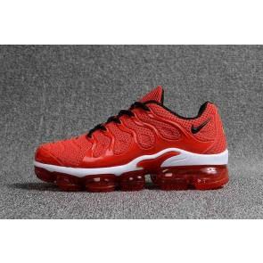 Nike Air VaporMax Plus KPU TPU Rouge Blanche Homme Pas Cher