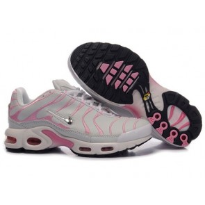 Chaussures Nike Air Max TN Plus Femme Grise Rose Pas Cher
