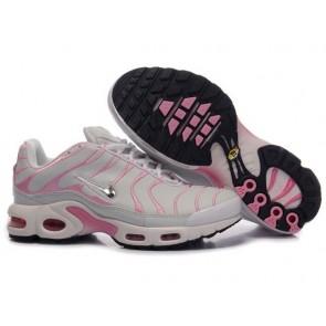 Chaussures Nike Air Max TN Plus Femme Grise Rose Pas Cher