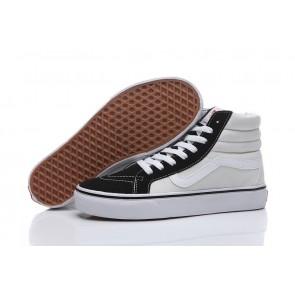 Vans Sk8 Hi Ivory Noir Pas Cher, Chaussures Vans