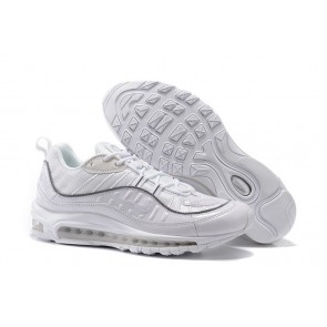 Acheter Homme Supreme x Nike Air Max 98 Blanche Grise