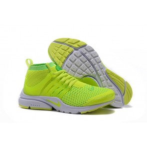 Boutique Chaussures Nike Air Presto Ultra Flyknit High Femme Verte