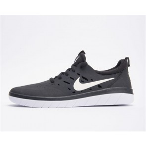 Nike SB Nyjah Free Homme Noir Blanche Pas Cher