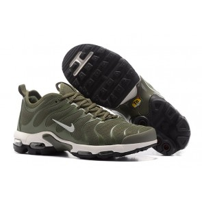 Chaussures Nike Air Max Plus TN Ultra Amry Verte Blanche Pas Cher