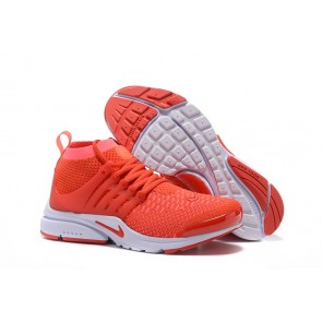 Nike Air Presto Ultra Flyknit High Soldes, Chaussures Homme Rouge