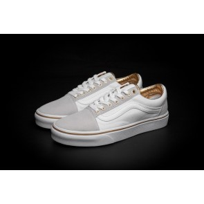 Chaussures Vans Old Skool Blanche Or Moins Cher