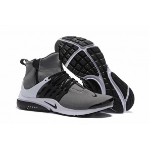 Chaussures Homme Nike Air Presto High Grise Noir Soldes