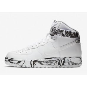 Nike Air Force 1 High Marble Pack Homme Blanche Noir Dark Marron Soldes
