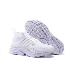 Chaussures Homme Nike Air Presto Ultra Flyknit High Blanche