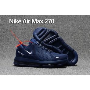 Homme Nike Air Max 270 Trainers KPU TPU Bleu Blanche En ligne