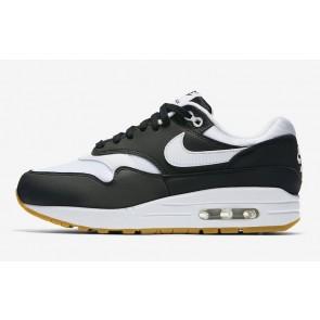 Homme Nike Air Max 1Noir Blanche En ligne