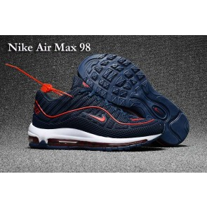 Homme Supreme x Nike Air Max 98 KPU TPU Bleu Rouge En ligne