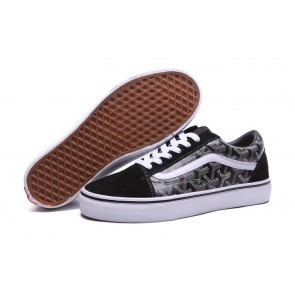 Chaussures Vans Old Skool Pas Cher - Noir Blanche Vans