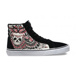Chaussures Vans Sk8 Hi Reissue Soldes - Vans Noir Blanche