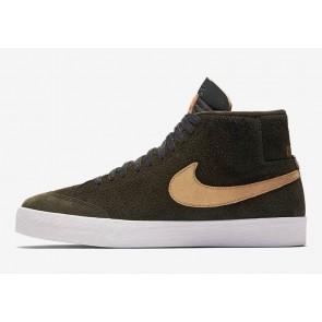 WE CLUB 58 x Nike SB Blazer Mid QS Sequoia Or Homme Rabais