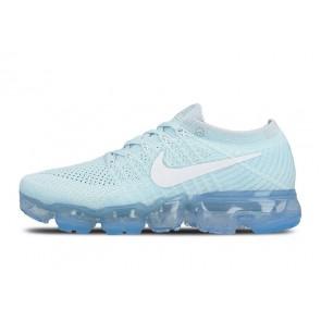 "Nike Air VaporMax Flyknit Femme ""Glacier Bleu"" Bleu Blanche Soldes"