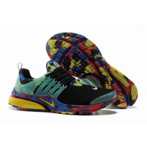 Chaussures Nike Air Presto Homme Noir Bleu Camo Soldes