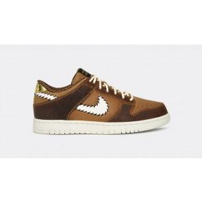 Homme Nike Dunk Low PRM QS Paris Ale Marron Blanche Rabais
