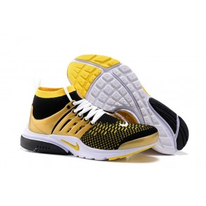 Chaussures Nike Air Presto Ultra Flyknit High Homme Pas Cher - Noir Or