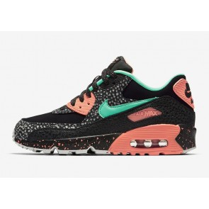 "Grade School's Nike Air Max 90 GS ""Dotted Print"" Safari Pack Noir Rose Meilleur Prix"