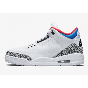 "Homme Nike Air Jordan 3 Retro ""Seoul"" Blanche Rouge Soldes"