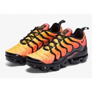 "Homme Nike Air VaporMax Plus ""Sunset"" Noir Orange Rabais"