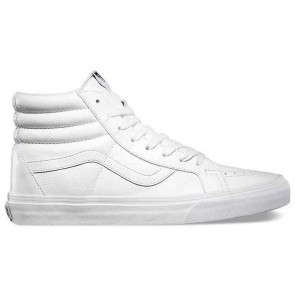 Boutique Chaussures Vans Sk8 Hi Reissue Leather Blanche