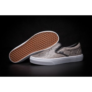 "Chaussures Vans Classic Slip on ""Leather Snakeskin"" Print"