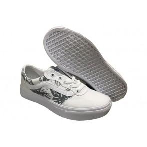 Chaussures Vans Old Skool Pas Cher - Blanche Noir