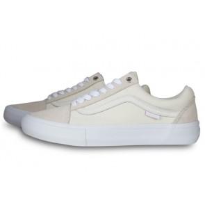 Vans Old Skool Pro Blanche Grise Soldes | Chaussures Vans