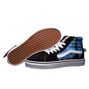 Vans Sk8 Hi Noir Multi Color Pas Cher, Chaussures Vans