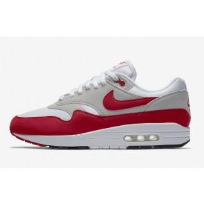Nike Air Max 1 Homme Blanche Rouge 908375-100 Rabais