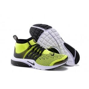 Nike Air Presto Ultra Flyknit High Homme Vente, Chaussures Verte Noir