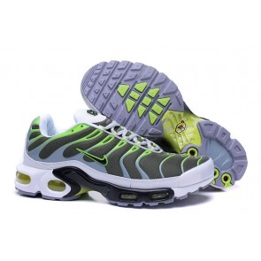 Acheter Chaussures Nike Air Max TN Plus Homme Verte Blanche