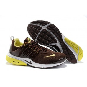 Chaussures Nike Air Presto Marron Jaune Moins Cher