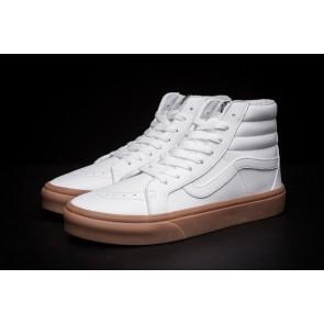 Chaussures Vans SK8 Hi Slim Lerather Blanche