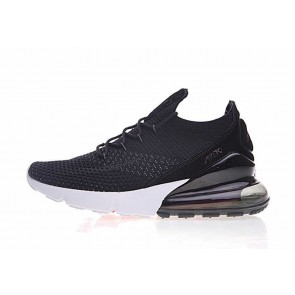 Nike Air Max 270 Flyknit Noir Blanche Hot Punch Pas Cher