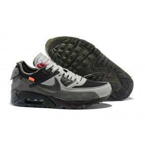 Homme Off-White x Nike Air Max 90 Virgil Was Here Grise Noir En ligne