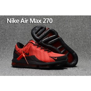 Homme Nike Air Max 270 Trainers KPU TPU Rouge Noir Soldes