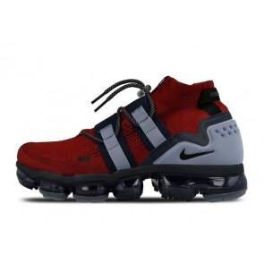 Boutique Homme Nike Air VaporMax Flyknit Rouge Noir