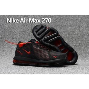 Homme Nike Air Max 270 Trainers KPU TPU Noir Rouge Meilleur Prix