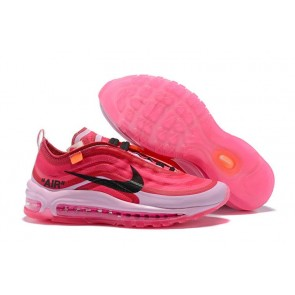 Femme Off-White x Nike Air Max 97 OG Coral Rose Noir Meilleur Prix
