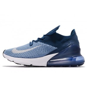Acheter Nike Air Max 270 Flyknit Homme Casual Bleu Rouge
