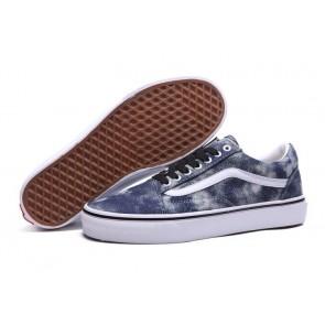 Chaussures Vans Old Skool Canvas Woody Denim Pas Cher