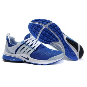 Chaussures Nike Air Presto Bleu Blanche Soldes - Homme