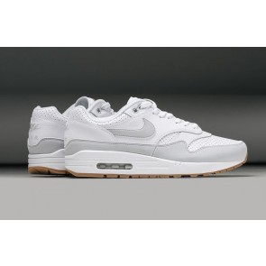 Acheter Homme Nike Air Max 1 Premium Leather Perforated Pack Blanche Grise