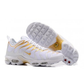 Nike Air Max Plus TN Ultra Chaussures Blanche Or Pas Cher