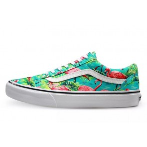 Chaussures Vans Old Skool Turquoise Blanche