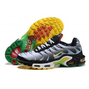 Nike Air Max TN Plus Grise Jaune Soldes, Chaussures Homme
